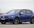 Синий Volkswagen Golf R 2015 фото