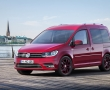 Красный Volkswagen Caddy 2015 фото
